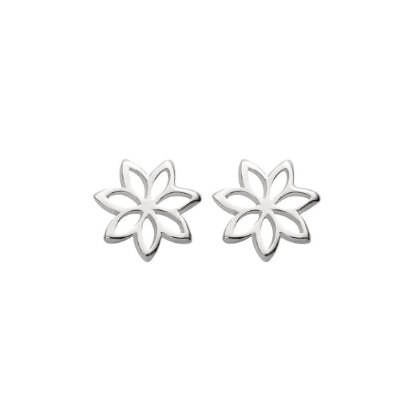 simple sterling silver studs in cut out flower design from unique gift store have you met charlie in adelaide south australia