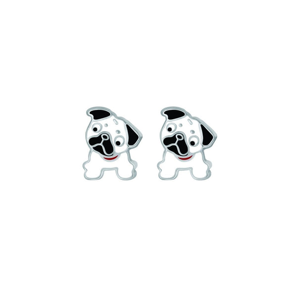 cute pug bulldog puppy sterling silver studs from australian unique gift shop have you met charlie in adelaide south australia
