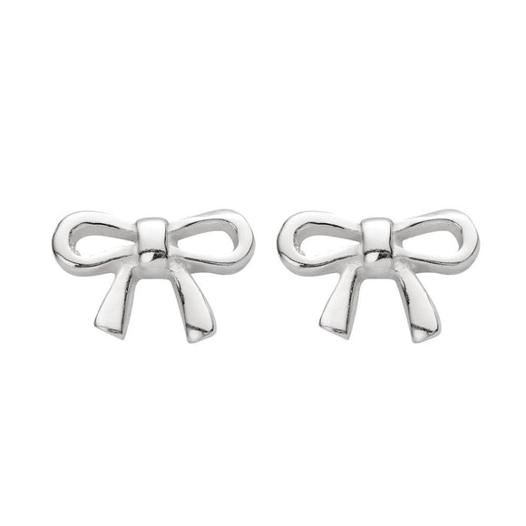 simple sterling silver studs in tied bow shape from unique gift shop have you met charlie in adelaide soith australia