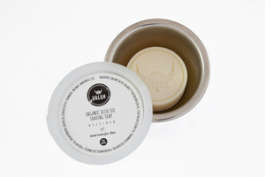 Shave with Valor - Woodsman Shaving Soap in Stainless Steel Vessel