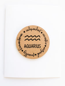 Aquarius - Zodiac Cards