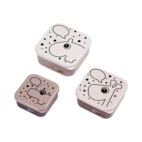 SNACK BOX SET 3PCS CONTOUR POWDER