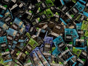 Different flavor cards, Lime, licorice, mint and menthol