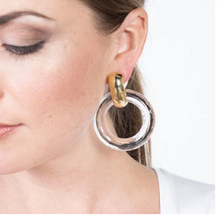 Load image into Gallery viewer, Clear Doorknocker Clip Earrings