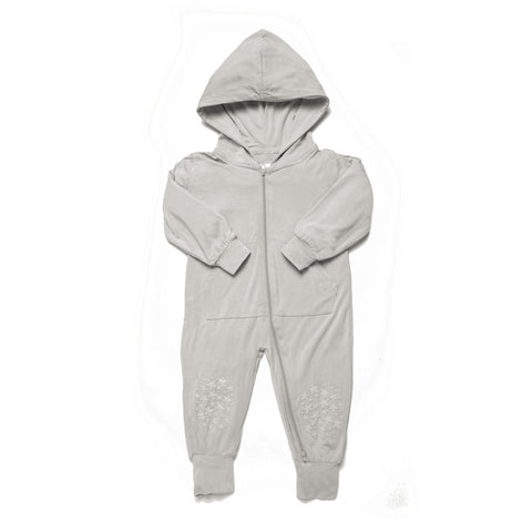 Light Grey Grip N' Go Romper - Bamboo