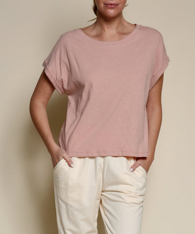 Crop Top - Recycled Cotton Mauve