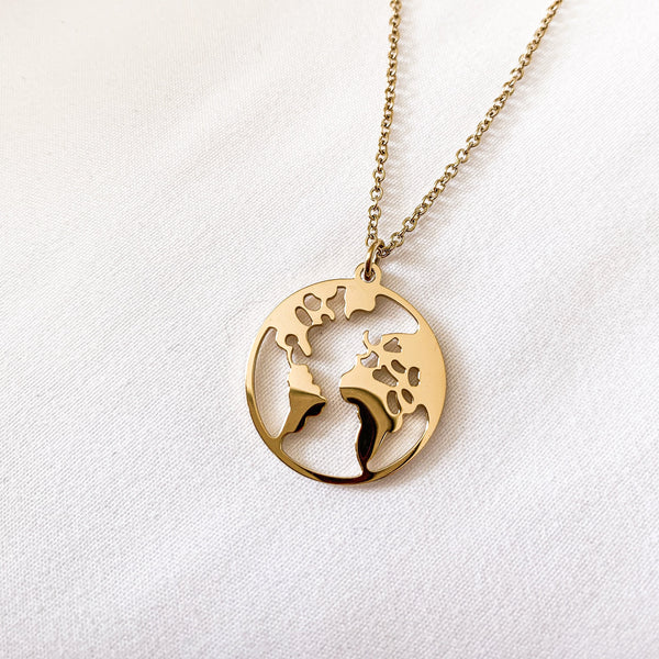 Gold - 'MY WORLD' Necklace