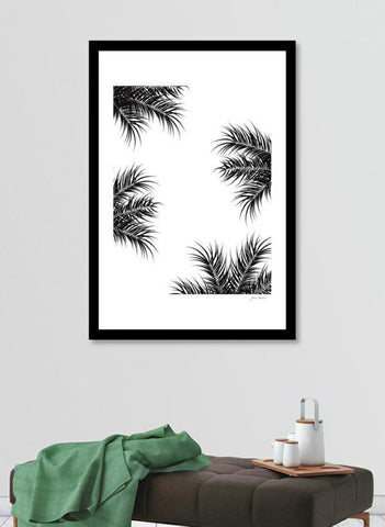 Black and white Tropical design with Frame
