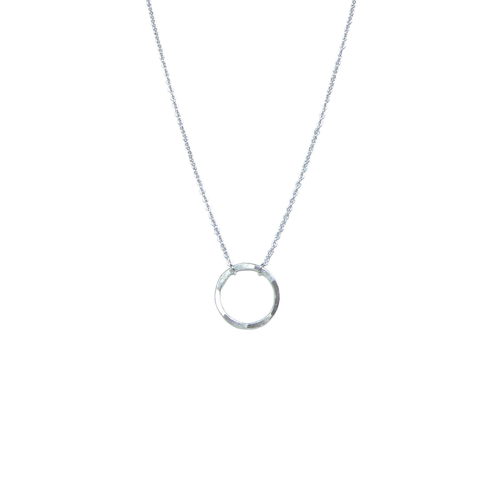 Circle of life silver necklace by Karma Links Jewellery