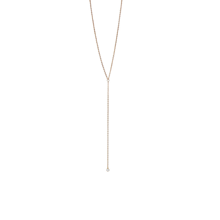 white topaz lariat necklace