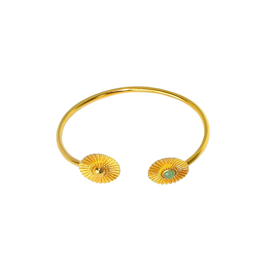 Gold aventurine soleil bangle