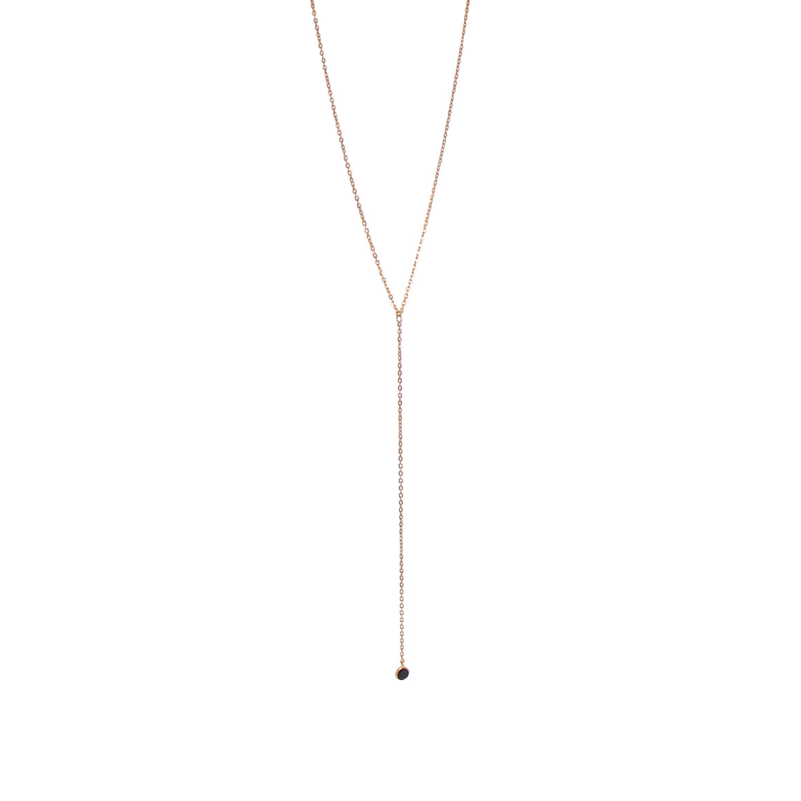 black onyx lariat necklace