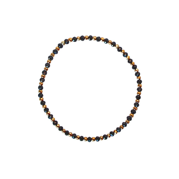black and gold nuggets bracelet