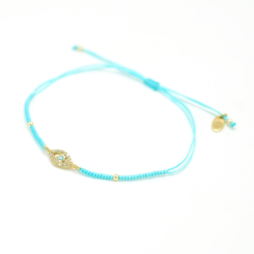 evil eye blue friendship bracelet