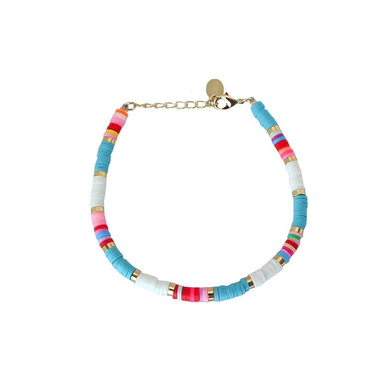 multi-colour bohemian bracelet