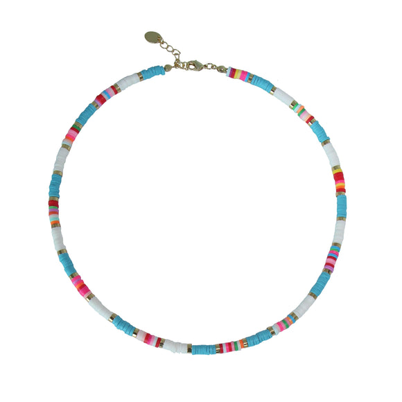 Bohemian multi-colour choker necklace