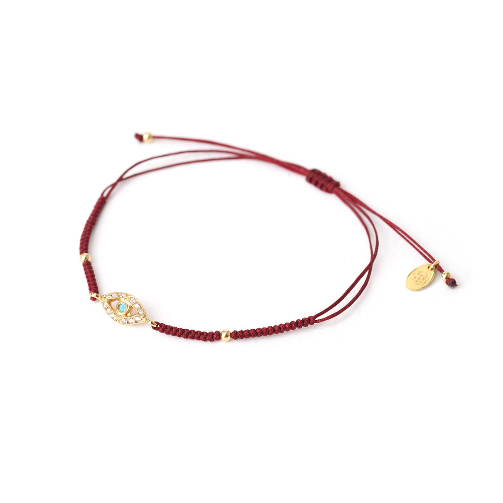 evil eye blood red friendship bracelet
