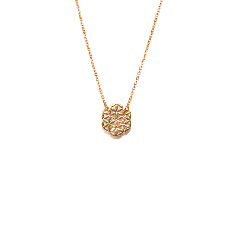 gold flower of life necklace