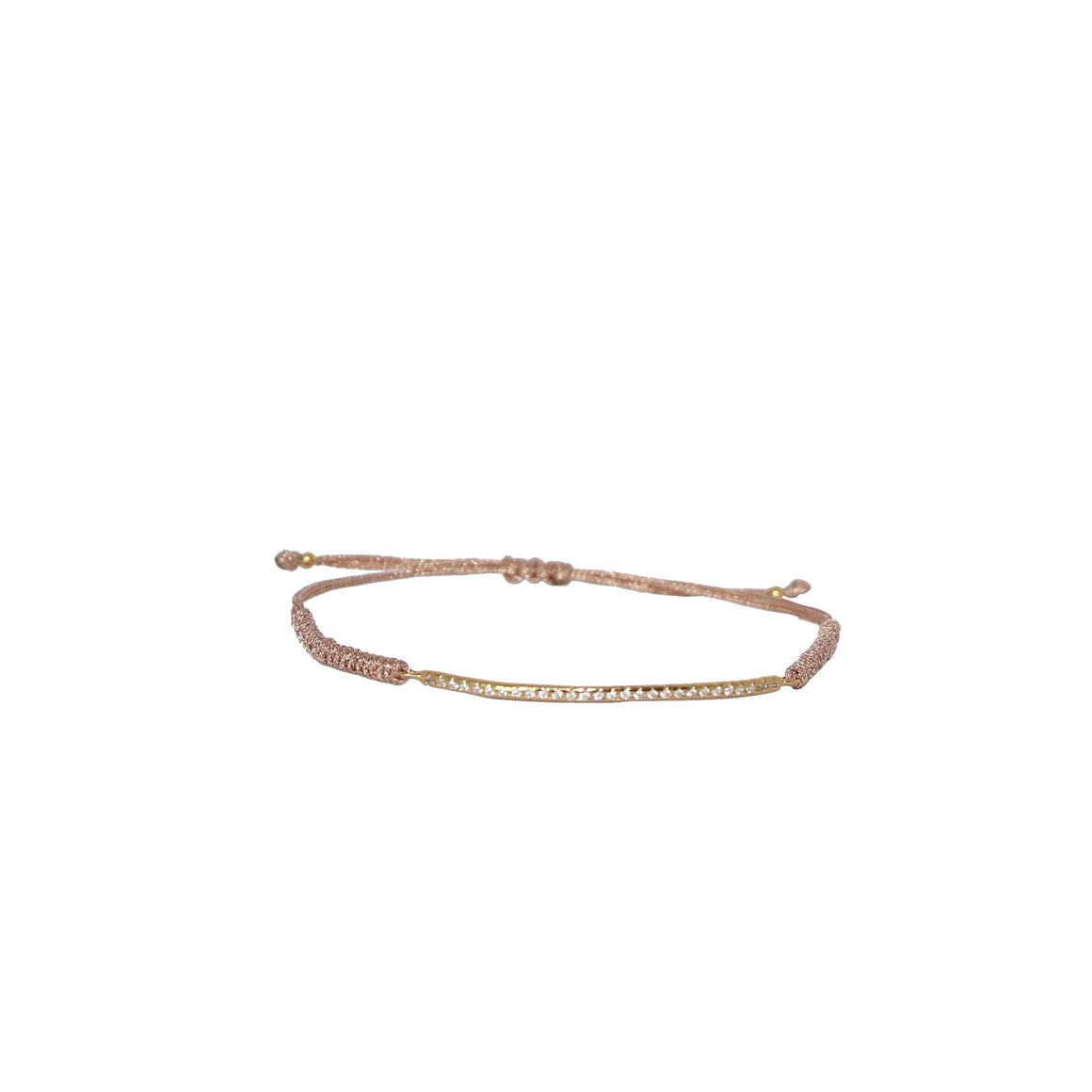 gold bar pave friendship bracelet
