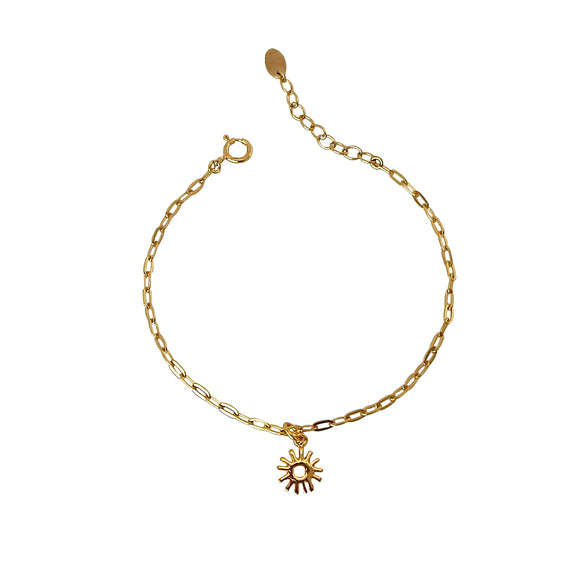 golden sun chain bracelet