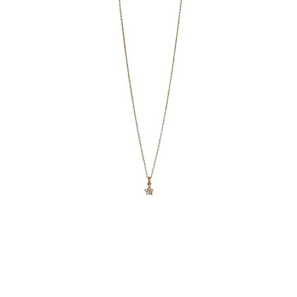 gold tiny star necklace