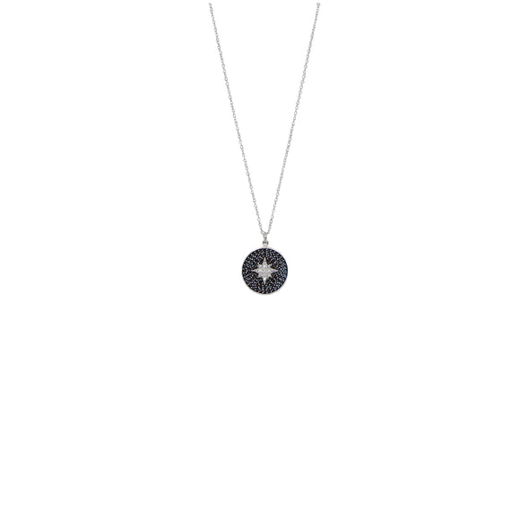 guiding star necklace in silver