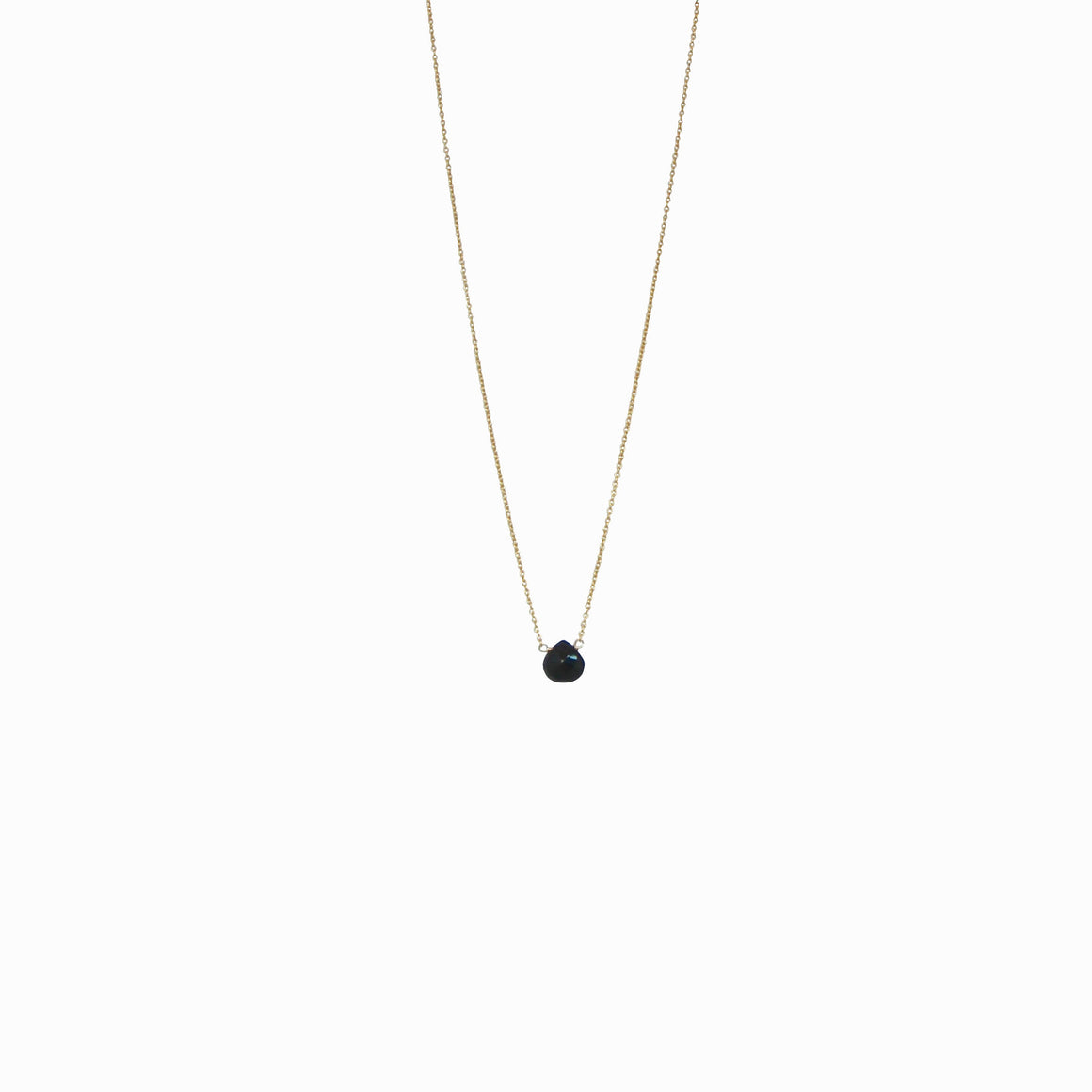delicate black onyx teardrop necklace