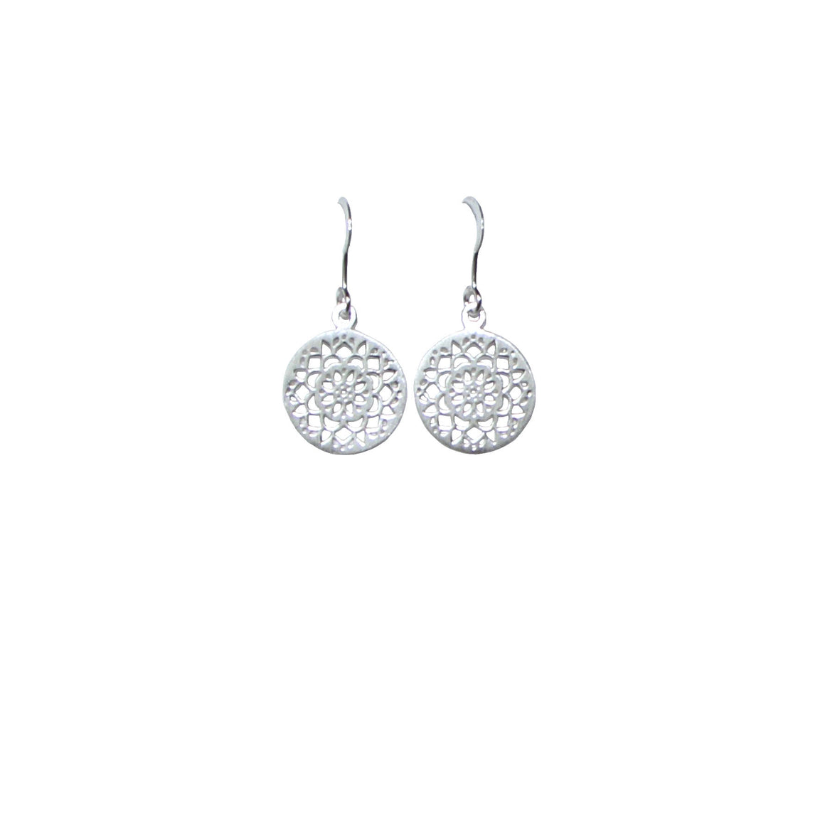 silver filigree dangling earrings