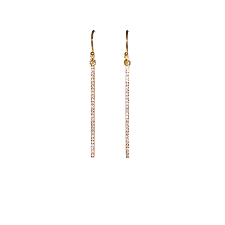 sparkling bar earrings