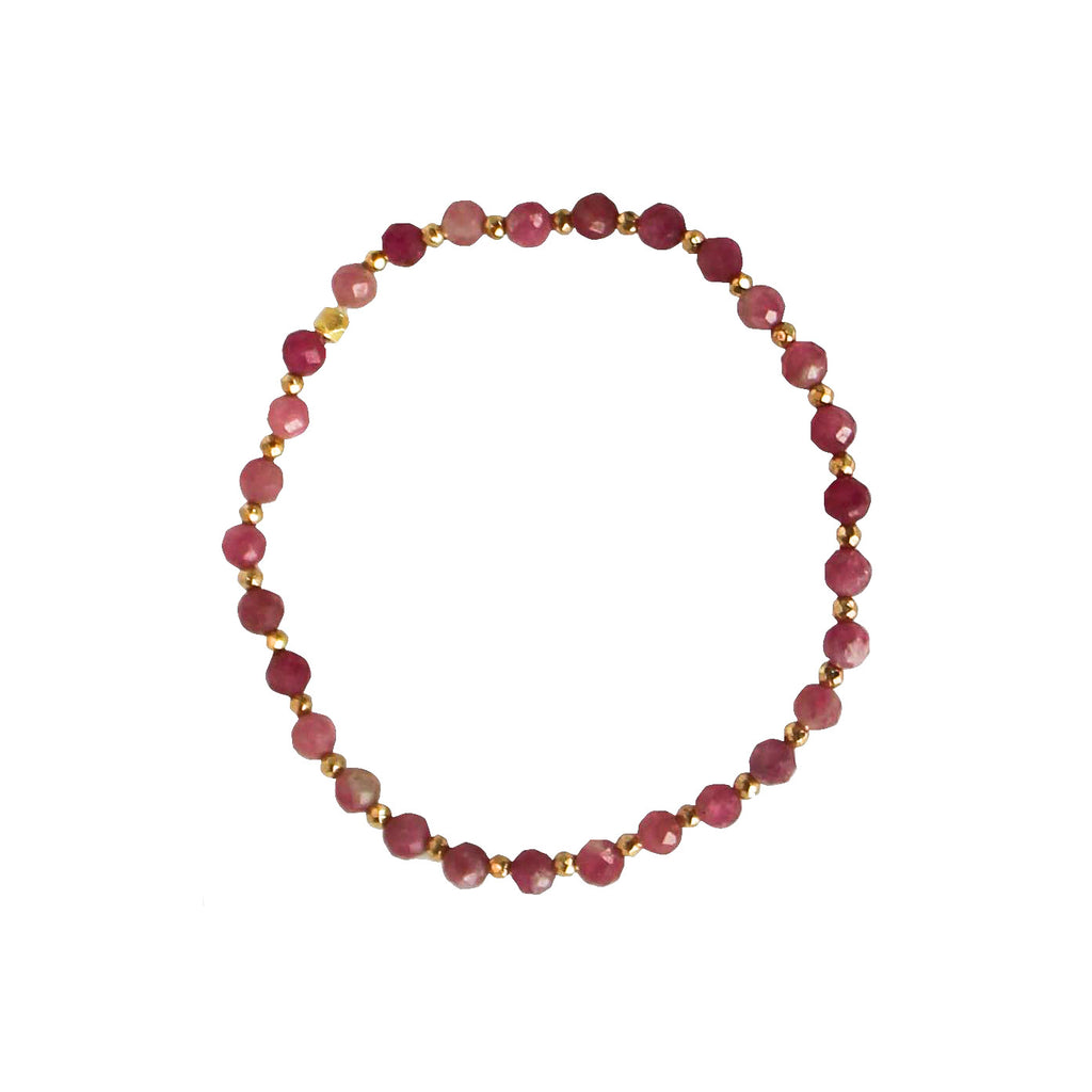 tourmaline and gold nuggets bracelet