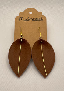 Brown Leaf Earrings