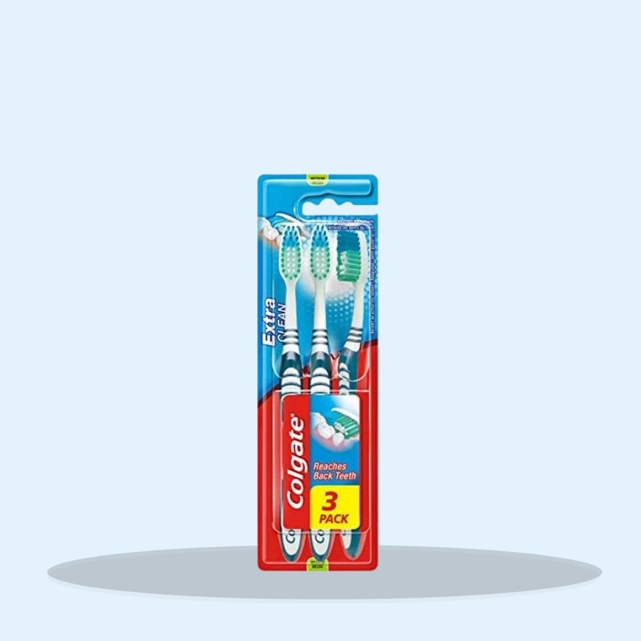 Colgate Toothbrush Extra Clean Medium Triple Pack (Pack of 6 x 3)