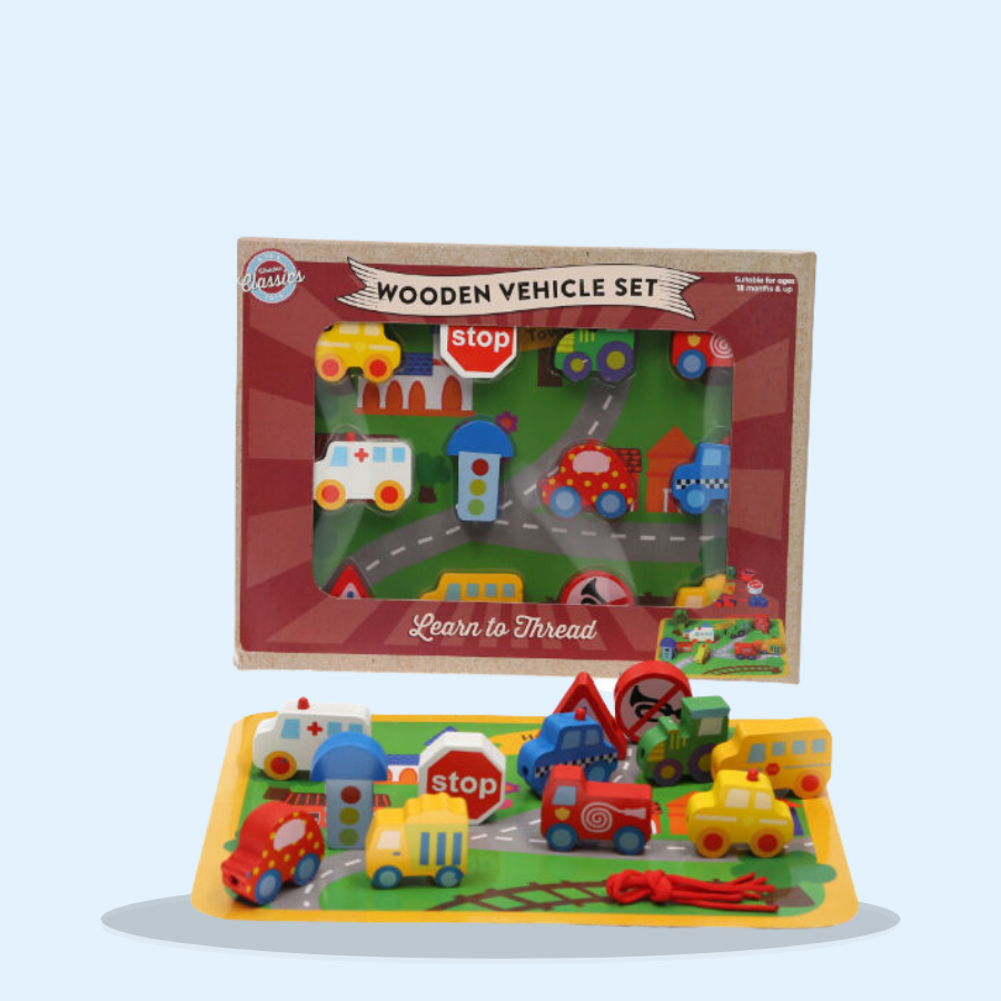 Wooden Vehicles Set (Pack of 1 x 1)