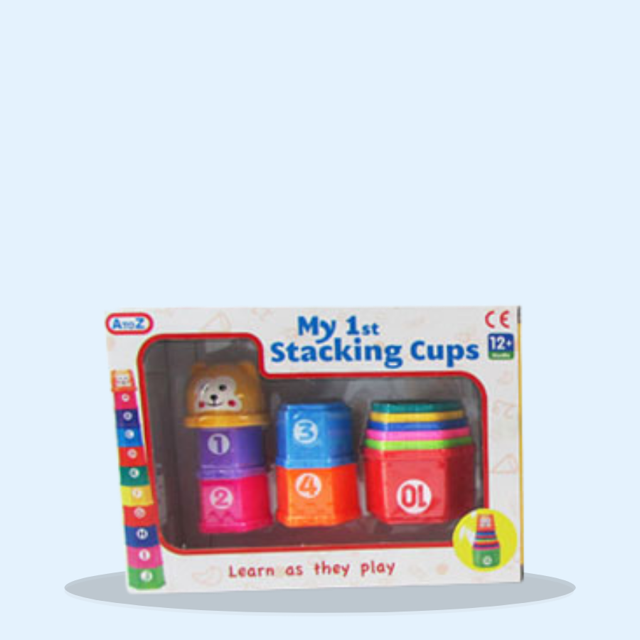 Stacking Cups With Animal Heads Set (Pack of 1 x 1)