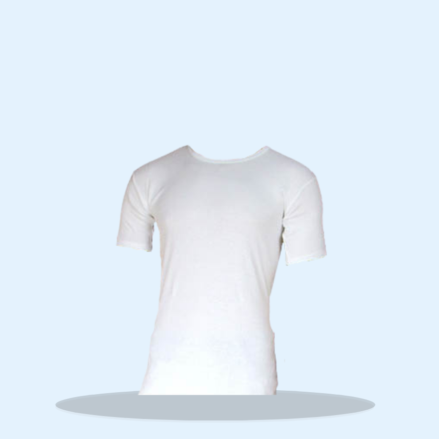 Mens Thermal Underwear T-Shirt White (Pack of 6 x 1)