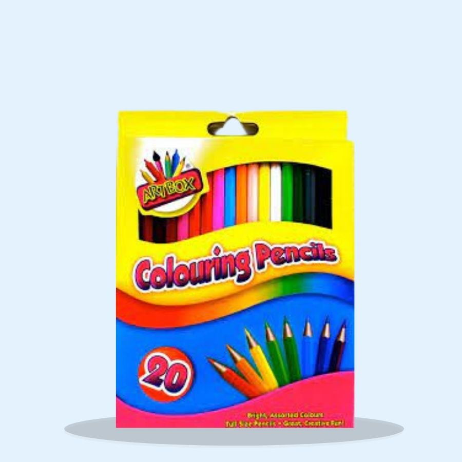 Artbox 20 full size colouring pencils (Pack of 4 x 20s)