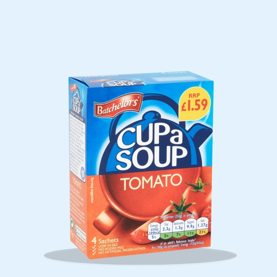 Batchelors Cup a Soup Tomato 4 Sachets (Pack of 9 x 1)