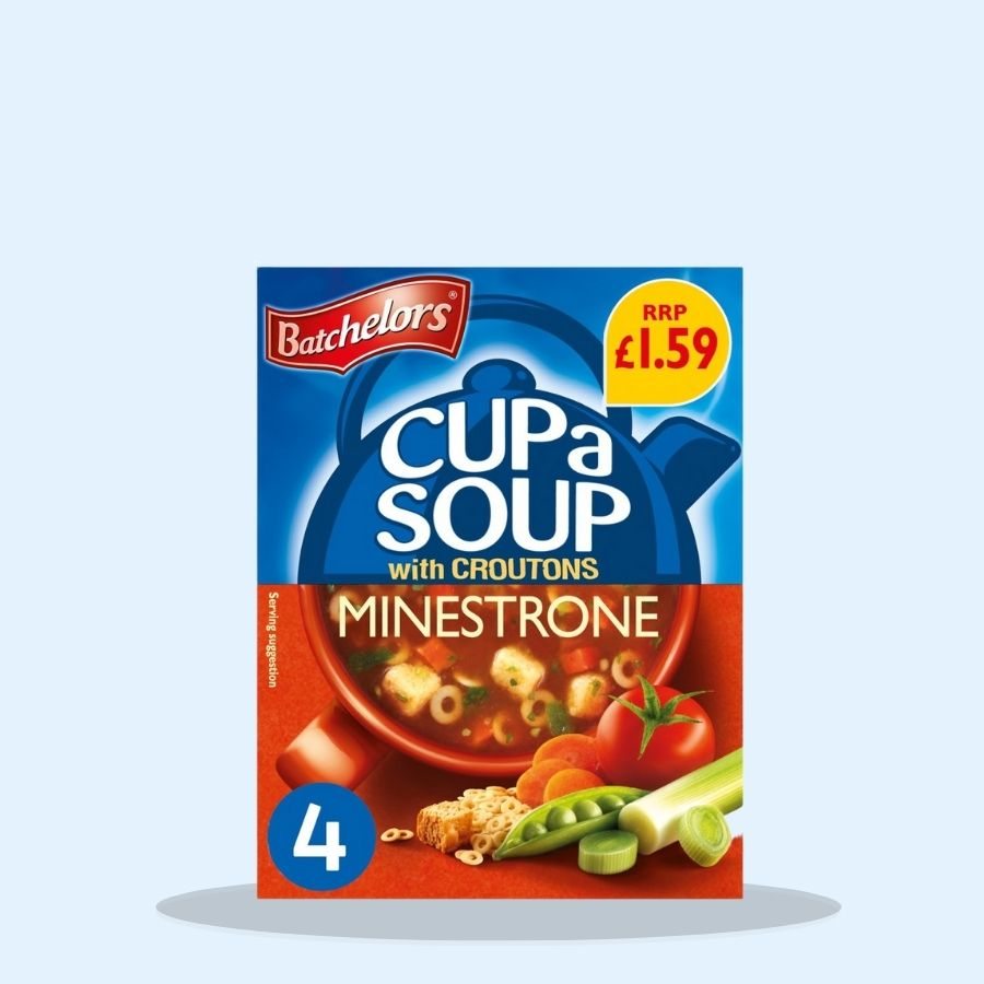 Batchelors Cup a Soup with Croutons Minestrone 4 Sachets (Pack of 9 x 94g)