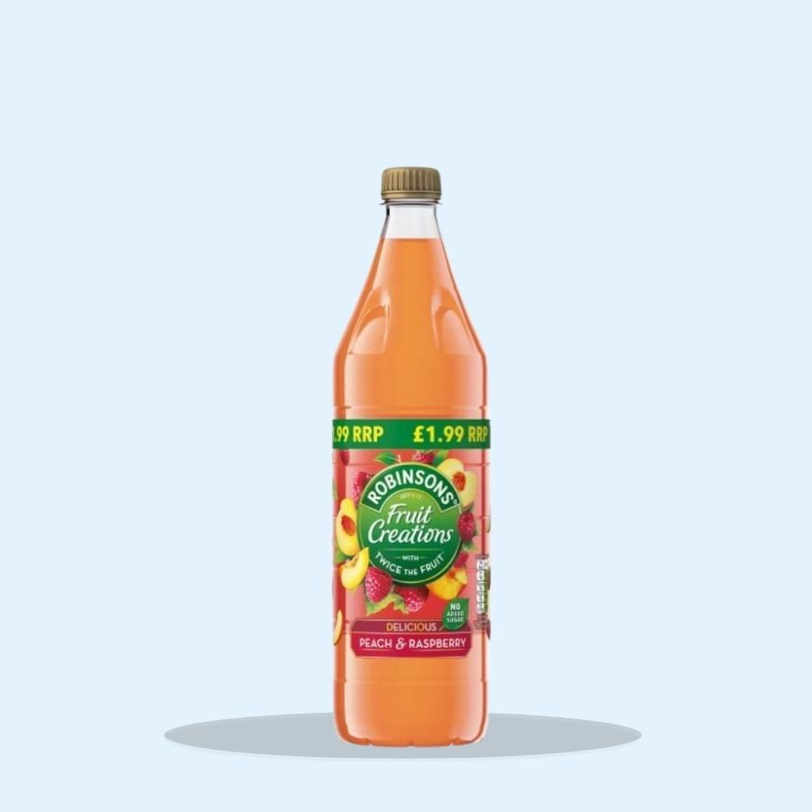 Robinsons Fruit Creations Delicious Peach & Raspberry (Pack of 6 x 1ltr)