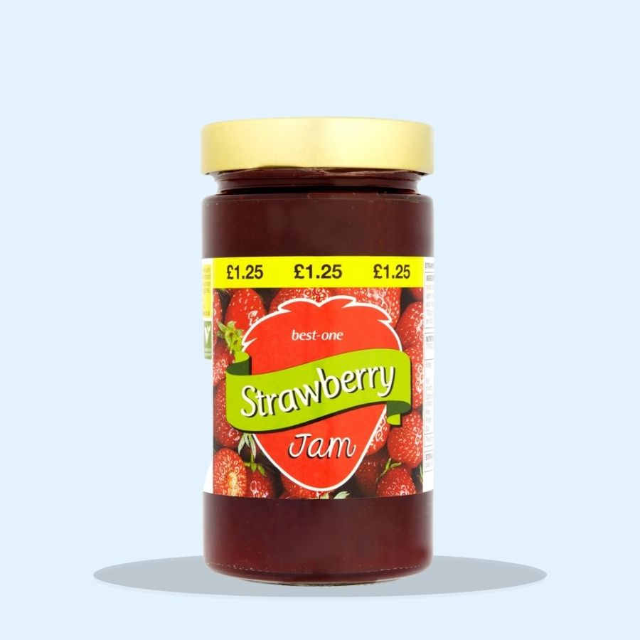 Best-One Strawberry Jam (Pack of 6 x 454g)