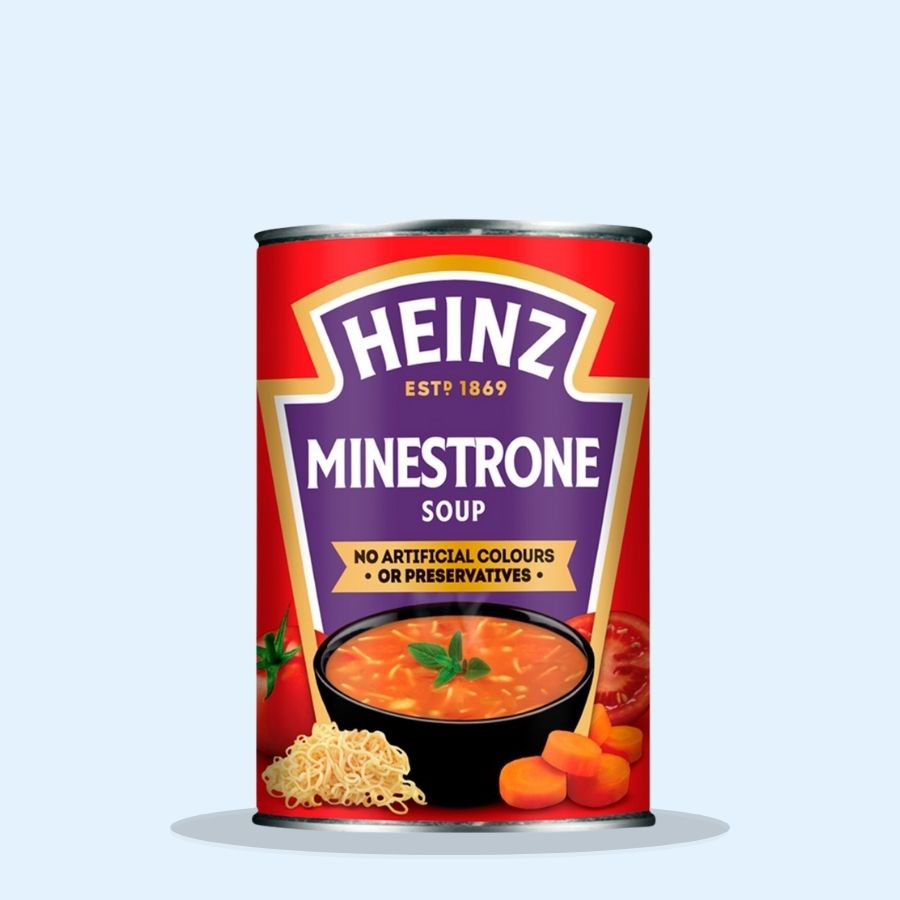 Heinz Minestrone Soup (Pack of 24 x 400g)