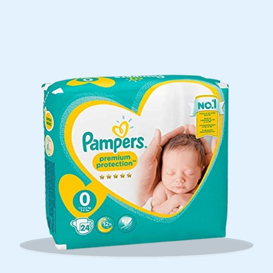 Pampers New Baby 24's Size 0 (Pack of 8 x 24s)
