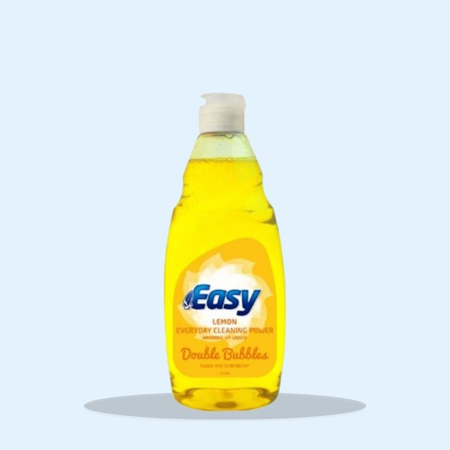 Easy Washing Up Liquid Lemon 500 ml (Pack of 8 x 500ml)