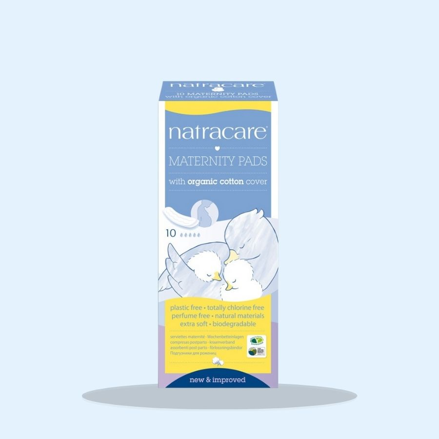 Natracare Maternity Pads 10s (Pack of 1 x 10s)