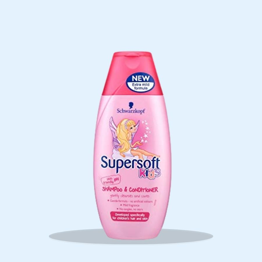 Schwarzkopf Supersoft Kids Shampoo and Conditioner 250ml (Pack of 5 x 250ml)
