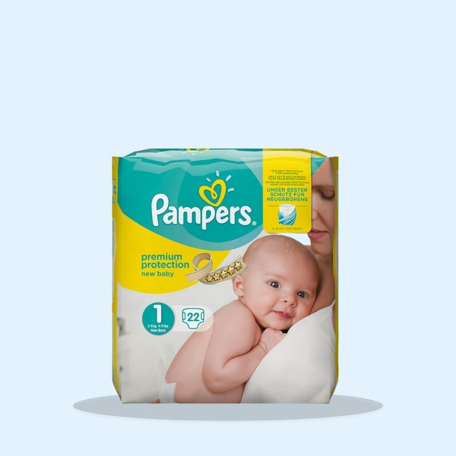 Pampers Baby Newborn 22s Size 1 (Pack of 4 x 22s)