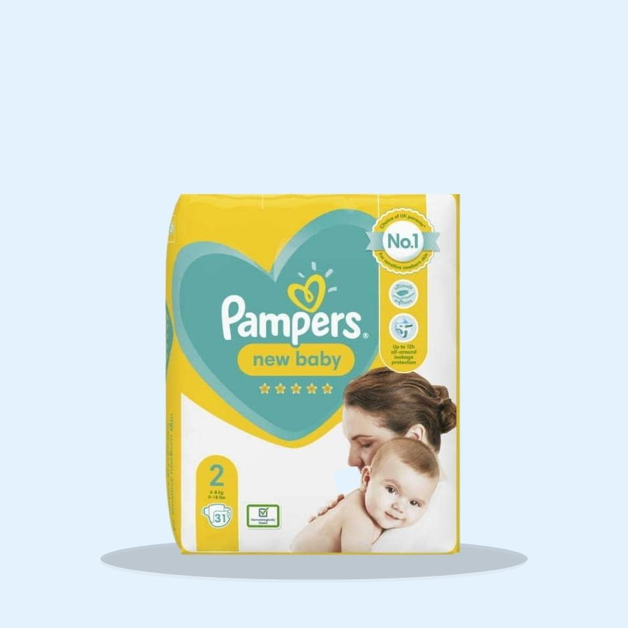 Pampers New Baby Size 2 31s (Pack of 4 x 31s)