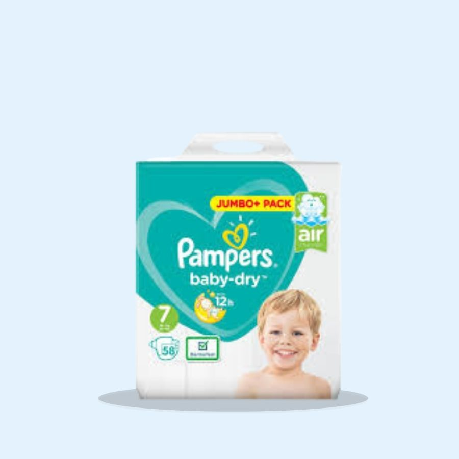 Pampers Baby Dry Size 7 58s (Pack of 2 x 58s)