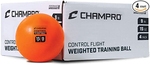 "Champro 9"" Control flight training balls- 4 pk"