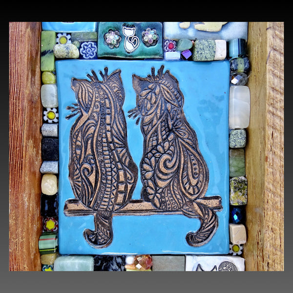 Blue Cats Mosaic